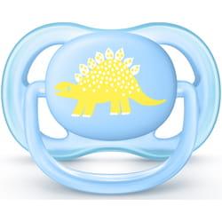 Пустышка силиконовая ортодонтическая AVENT (Авент) SCF 544/10 Ultra Air с декором для мальчика от 0 до 6 месяцев 1 шт