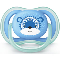 Пустышка силиконовая ортодонтическая AVENT (Авент) SCF 542/12 Ultra Air с декором для мальчика от 6 до 18 месяцев 1 шт