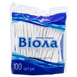 Палочки ватные Виола гигиенические пачка 100 шт