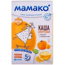 Каша молочная детская МАМАКО Кукурузная с тыквой и абрикосом на козьем молоке для детей с 5-ти месяцев 200 г