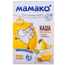 Каша молочная детская МАМАКО Пшеничная с грушей и бананом на козьем молоке для детей с 6-ти месяцев 200 г