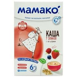 Каша молочна дитяча МАМАКО 7 злаків з ягодами на козячому молоці для дітей з 6-ти місяців 200 г