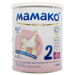 Смесь молочная детская МАМАКО 2 Premium (Премиум) сухая адаптированная на основе козьего молока для детей с 6 до 12 месяцев 400 г