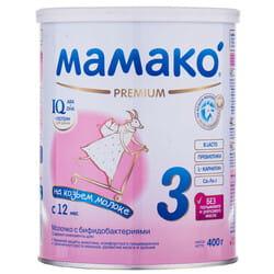Смесь молочная детская МАМАКО 3 Premium (Премиум) сухая адаптированная на основе козьего молока для детей с 12 месяцев 400 г