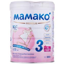 Смесь молочная детская МАМАКО 3 Premium (Премиум) сухая адаптированная на основе козьего молока для детей с 12 месяцев 800 г