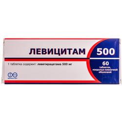 Левицитам 500 табл. п/о 500мг №60