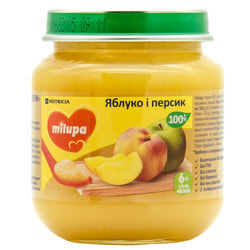 Пюре фруктовое детское Нутриция Milupa (Милупа) Яблоко и персик с 6-ти месяцев 125 г
