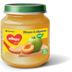 Пюре фруктовое детское Нутриция Milupa (Милупа) Яблоко и абрикос с 6-ти месяцев 125 г