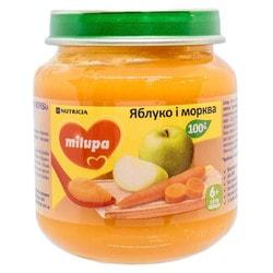 Пюре фруктово-овощное детское Нутриция Milupa (Милупа) Яблоко и морковь с 6-ти месяцев 125 г