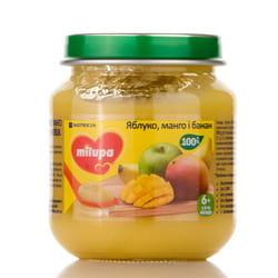 Пюре фруктовое детское Нутриция Milupa (Милупа) Яблоко, манго и банан с 6-ти месяцев 125 г