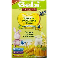 Каша молочная детская KOLINSKA BEBI (Колинска беби) Премиум Вкусный обед Злаки с тыквой и морковью для детей с 6-ти месяцев 200 г