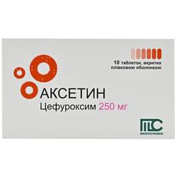 Аксетин табл. п/о 250мг №10