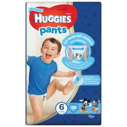 Подгузники-трусики для детей HUGGIES (Хаггис) Pants (Пентс) 6 для мальчиков от 15 до 25 кг 36 шт
