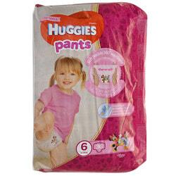 Подгузники-трусики для детей HUGGIES (Хаггис) Pants (Пентс) 6 для девочек от 15 до 25 кг 36 шт
