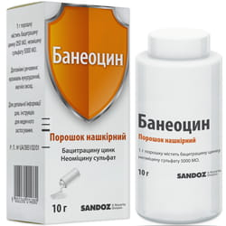 Банеоцин пор. накож. конт. 10г