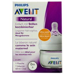 Бутылочка для кормления AVENT (Авент) SCF039/17 Natural (Нейчерал) из полипропилена для детей от 0 месяцев 60 мл