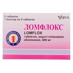 Ломфлокс табл. п/о 400мг №5