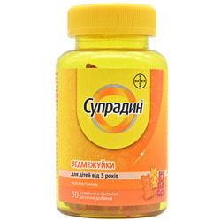 Витаминно-минеральный комплекс Супрадин Ведмежуйки пастилки жевательные с витамином С и витамином Д3 флакон 30 шт