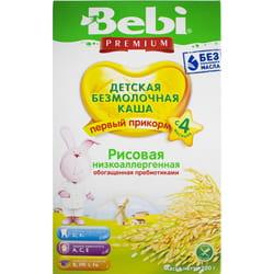 Каша безмолочная детская KOLINSKA BEBI Premium (Колинска беби премиум) Рисовая низкоаллергенная с пребиотиком для детей с 4-х месяцев 200 г