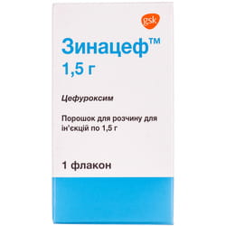 Зинацеф пор. д/р-ра д/ин. 1,5г фл. №1