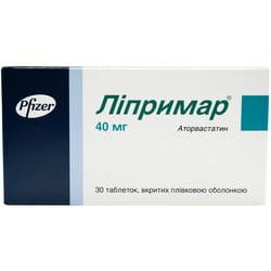 Липримар табл. п/о 40мг №30