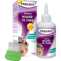 Шампунь для волос Параникс противопедикулёзный (от вшей и гнид) флакон 200 мл с гребешком
