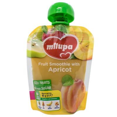 Пюре фруктовое детское Нутриция Milupa (Милупа) Яблоко, груша, банан и абрикос с 6-ти месяцев 80 г