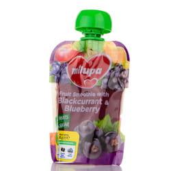 Пюре фруктовое детское Нутриция Milupa (Милупа) Яблоко, банан, черная смородина и черника с 6-ти месяцев 80 г
