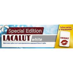 Зубная паста LACALUT (Лакалут) Вайт 75 мл и зубная нитка