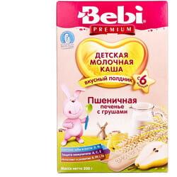Каша молочная детская KOLINSKA BEBI Premium (Колинска беби премиум) для полдника Пшеничная печенье с грушами 200 г