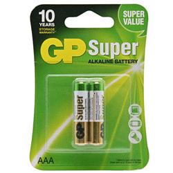 Батарейки GP (Джипи) Super Alkaline 24A-U2 LR03 AAA щелочные 2 шт