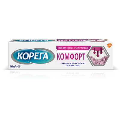 Крем для фиксации зубных протезов Корега Комфорт 40 г