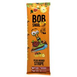 Конфеты детские натуральные Bob Snail (Боб Снеил) Улитка Боб страйпсы грушево-манговые 14 г