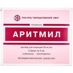 Аритмил р-р д/ин. 50мг/мл амп. 3мл №5