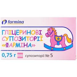"""Глицериновые супп. """"Фармина"""" 0,75г №5"""