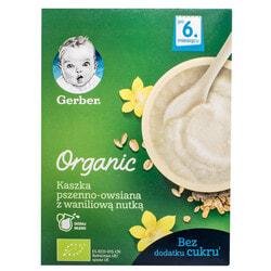 Каша безмолочная детская NESTLE GERBER (Нестле Гербер) Пшенично-овсяная Organic (Органик) с ванильным вкусом с 6-ти месяцев 240 г