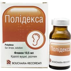 Полидекса кап. ушн. р-р фл. 10,5мл