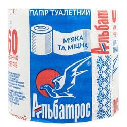 Бумага туалетная АЛЬБАТРОС из макулатуры 60 м арт 289 1 шт