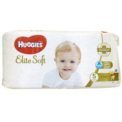 Подгузники для детей HUGGIES (Хаггис) Elite Soft (Элит софт) 5 от 12 до 22 кг упаковка 56 шт NEW