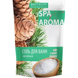 Соль морская для ванн BIOTON (Биотон) Cosmetics (Косметикс) хвойная с эфирными маслами кедра и кипариса 500 г